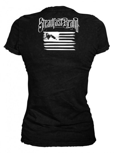 "Women's ""Tattooed President"" Tee by Steadfast Brand (Black) - www.inkedshop.com"