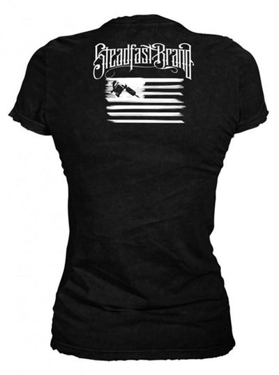 "Women's ""Tattooed Veteran"" Tee by Steadfast Brand (Black) - InkedShop - 4"