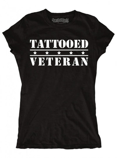 "Women's ""Tattooed Veteran"" Tee by Steadfast Brand (Black) - InkedShop - 3"