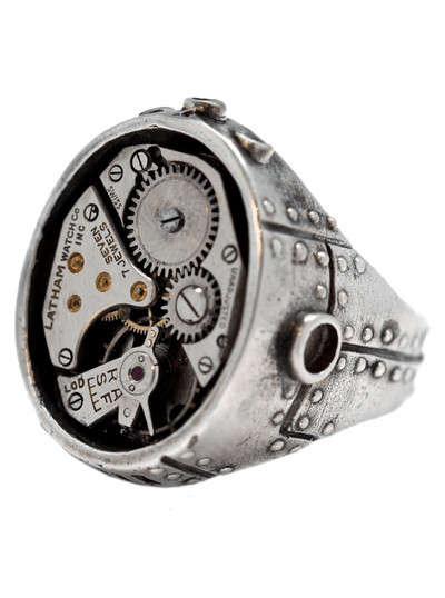 """Industrial Steam Watch Movement"" Ring by Blue Bayer Design (Sterling Silver) - www.inkedshop.com"