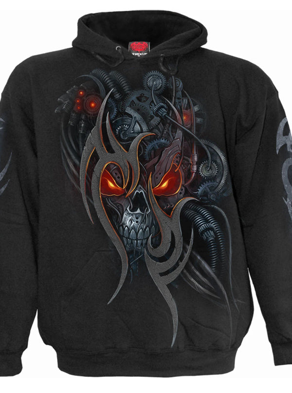 Men's Steampunk Skull Hoodie by Spiral USA