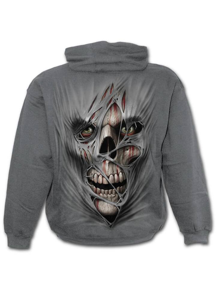 "Men's ""Stitched Up"" Hoodie by Spiral USA (Charcoal Grey) - www.inkedshop.com"
