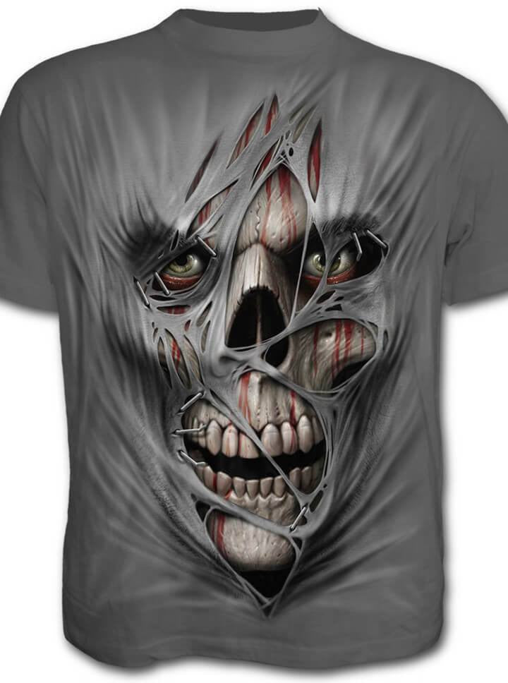 "Men's ""Stitched Up"" Tee by Spiral USA (Grey) - www.inkedshop.com"