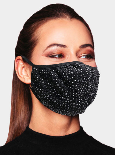 Stone Studded Face Mask