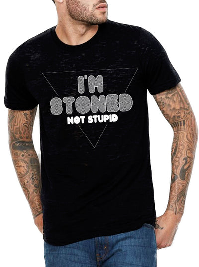 Unisex I'm Stoned Not Stupid Tee by Dirty Shirty