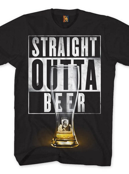 "Men's ""Outta Beer"" Tee by OG Abel (Black) - www.inkedshop.com"
