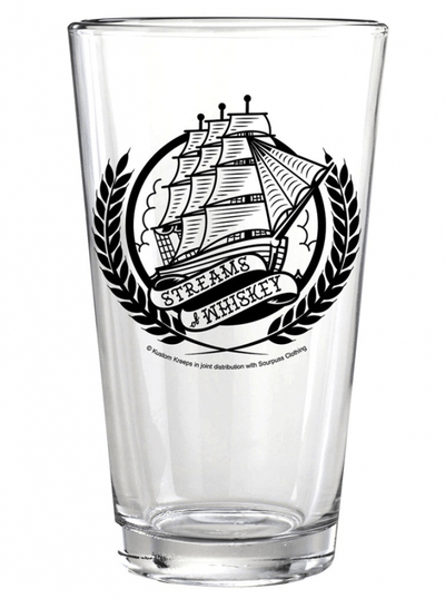 """Steams Of Whiskey"" Pint Glass by Kustom Kreeps (Glass) - www.inkedshop.com"