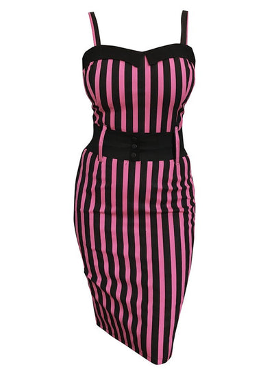 Women's Striped Darling Dress by Switchblade Stiletto