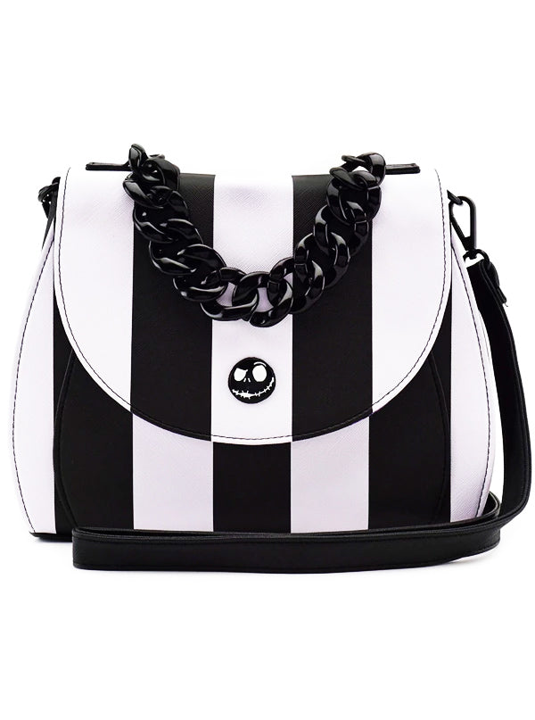 Nightmare Before Christmas Images Black And White.Nightmare Before Christmas Striped Crossbody Bag By Loungefly Black White