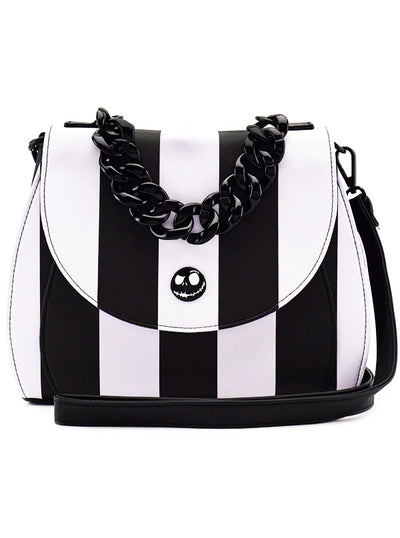 Nightmare Before Christmas Striped Crossbody Bag by Loungefly