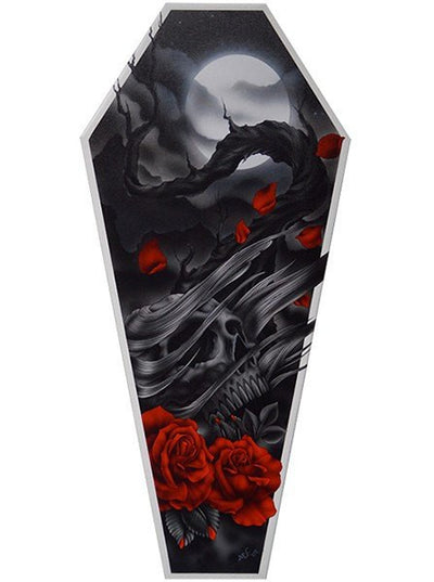 """The Sad Truth"" Coffin Canvas by Black Market Art - www.inkedshop.com"