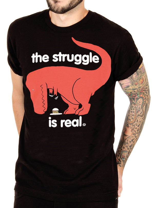 Men's The Struggle Is Real Tee by Goodie Two Sleeves