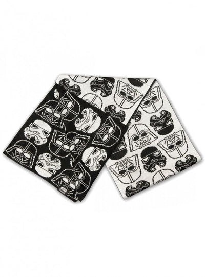 """Star Wars Darth Vader & Stormtrooper"" Scarf by Loungefly (Black/White) - www.inkedshop.com"