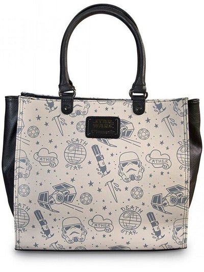"Star Wars ""Darth Vader Tattoo"" Tote by Loungefly (Black) - www.inkedshop.com"