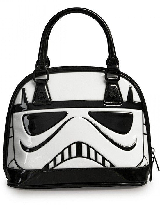 """Star Wars Stormtrooper"" Patent Dome Bag by Loungefly (White) - www.inkedshop.com"