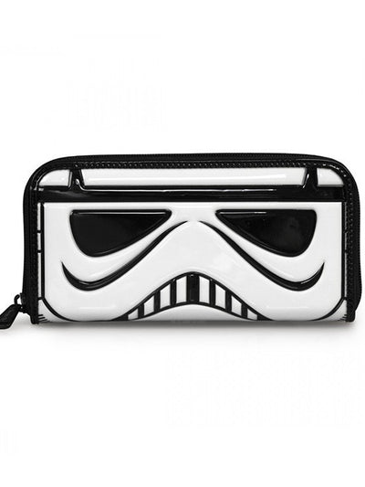 """Star Wars Stormtrooper"" Patent Face Wallet by Loungefly (White) - www.inkedshop.com"