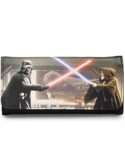 """Star Wars Darth Vader & Obi-Wan"" Photo Real Wallet by Loungefly (Black) - www.inkedshop.com"