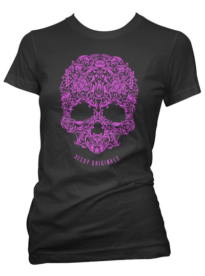 "Women's ""A Skull Named Sugar"" Tee by Aesop Originals (More Options) - www.inkedshop.com"