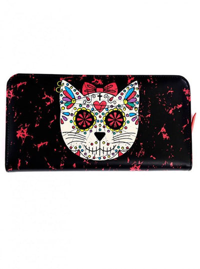 "Women's ""Sugar Kitty"" Wallet by Banned Apparel (Black) - www.inkedshop.com"