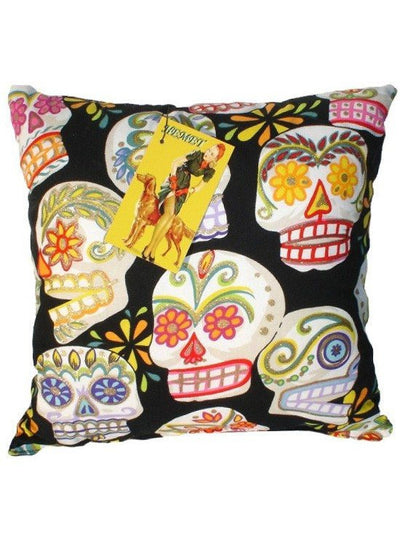 Sugar Skull Day of The Dead Throw Pillow by Hemet - InkedShop - 1