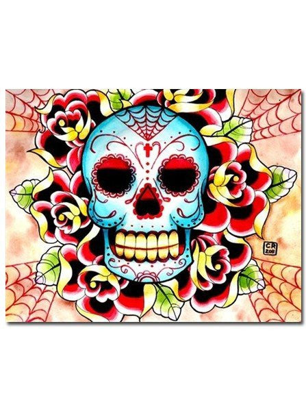 Sugar Skull Painting by Carissa Rose - InkedShop - 1