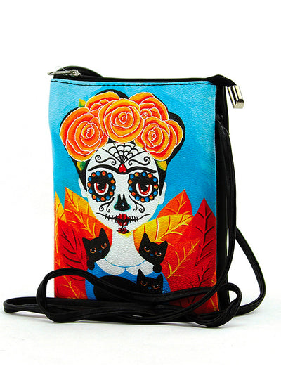 Sugar Skull Girl Crossbody Bag