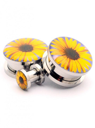 Sunflower Plugs by Mystic Metals - www.inkedshop.com