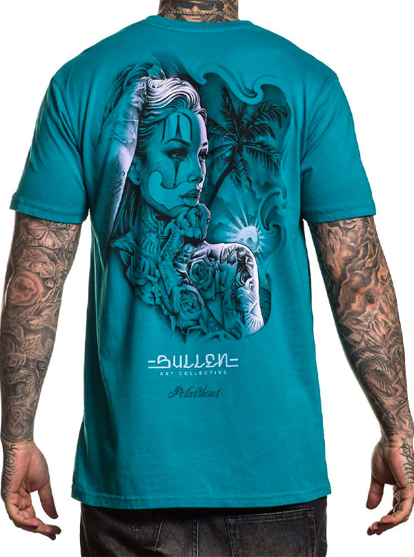 "Men's ""Sunsets"" Tee by Sullen (Teal)"