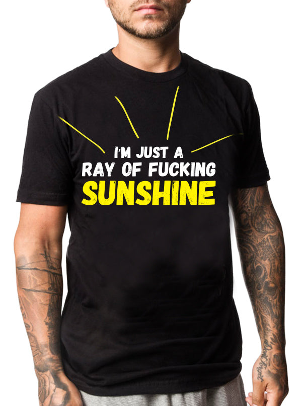 Men's Ray of Fucking Sunshine Tee by Dirty Shirty