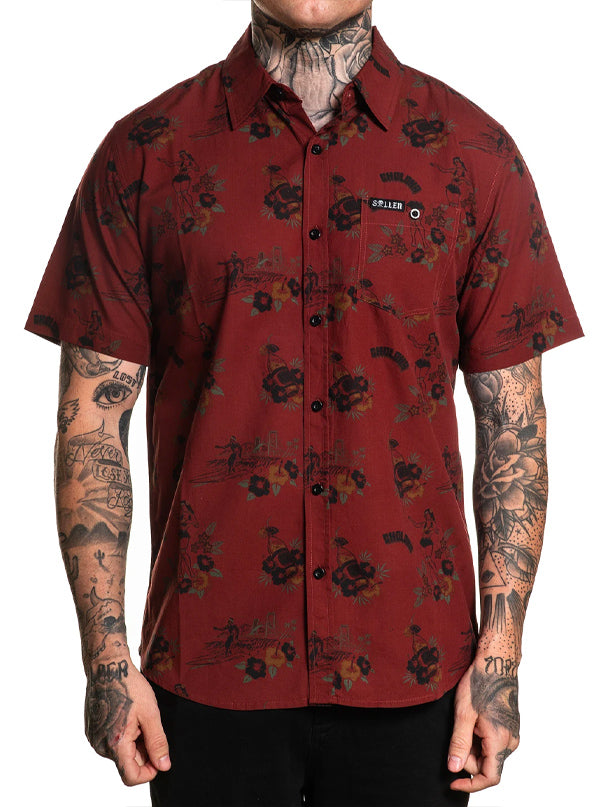 Men's Choloha Surf Button Up by Sullen