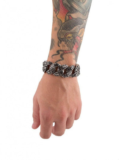 "Men's ""Fancy Cross"" Bracelet by Wicked Steel (Stainless Steel) - www.inkedshop.com"
