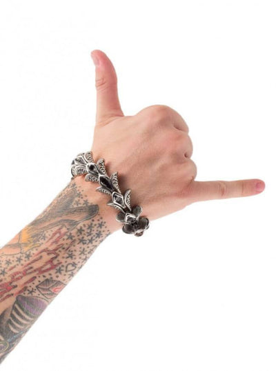 "Men's ""Dragon Scale"" Bracelet by Wicked Steel (Stainless Steel) - www.inkedshop.com"