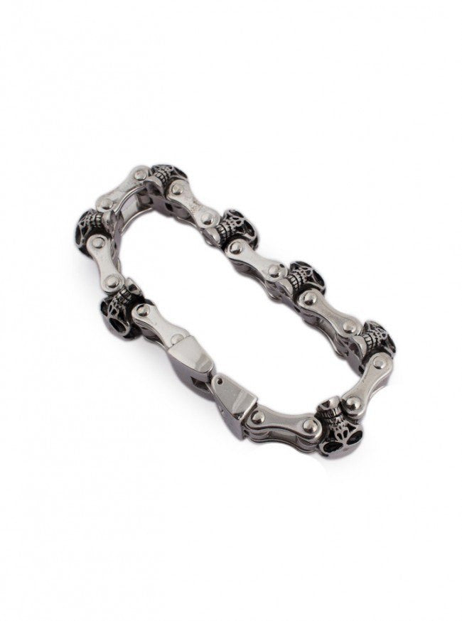 "Men's ""Motorcycle Chain"" Bracelet by Wicked Steel (Stainless Steel) - www.inkedshop.com"