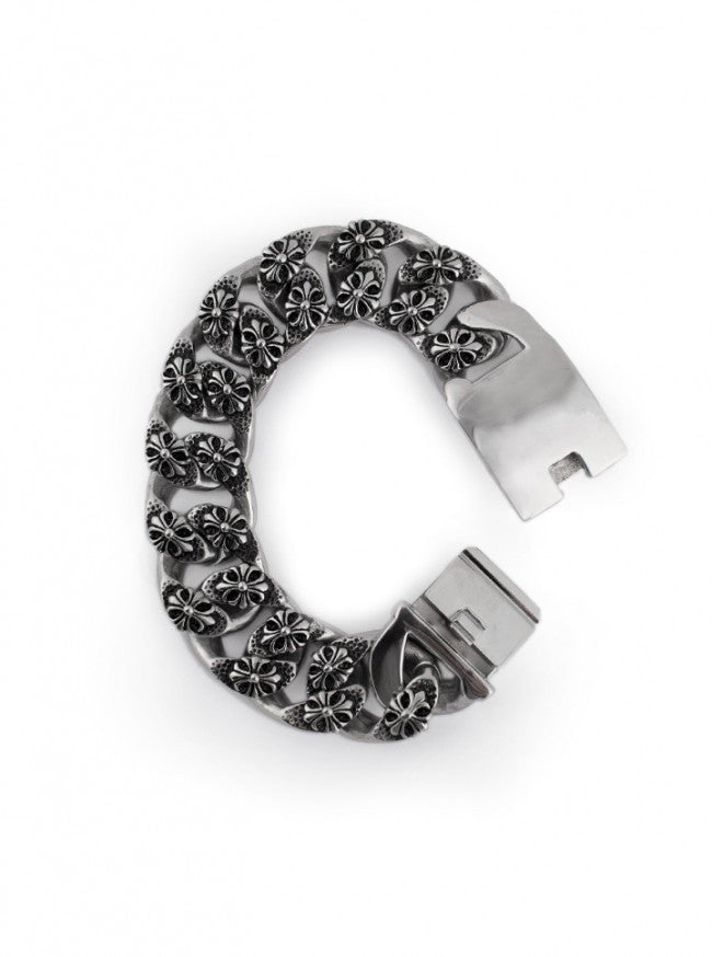 "Men's ""Cluster Cross"" Bracelet by Wicked Steel (Stainless Steel) - www.inkedshop.com"