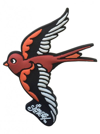 """Swallow"" Magnet by Sailor Jerry (Red) - www.inkedshop.com"