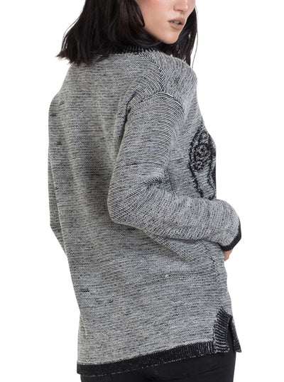 "Women's ""Celtic Skull"" Sweater by Jawbreaker (Grey)"