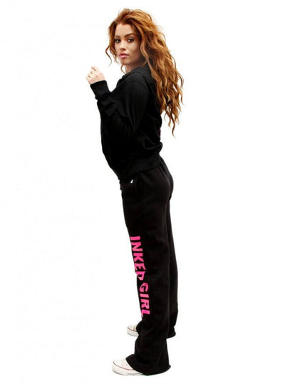 "Women's ""Inked Girls"" Zip-Up Hoodie by Inked (Black) - www.inkedshop.com"