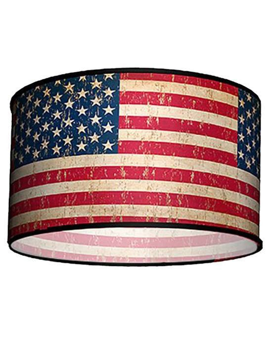 Swag Pendant With Vintage Flag Shade by Lamp in A Box - www.inkedshop.com