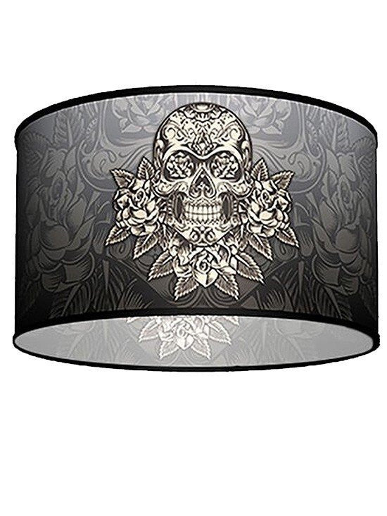 Skull lamps gothic lamp shades skull table lamp inked shop swag pendant with gold skull shade by lamp in a box inkedshop aloadofball Images