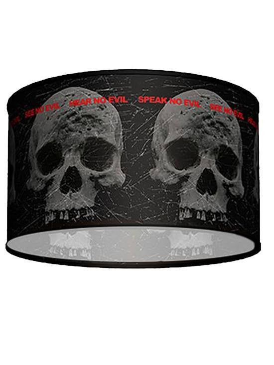 Swag Pendant With 3 Skull Shade by Lamp in A Box - www.inkedshop.com