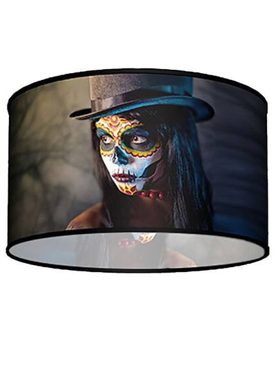 Swag Pendant With Top Hat Woman Shade by Lamp in A Box - www.inkedshop.com