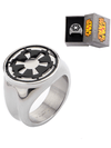 Stainless Steel Star Wars Galactic Empire Symbol Ring by Inox Jewelry - www.inkedshop.com