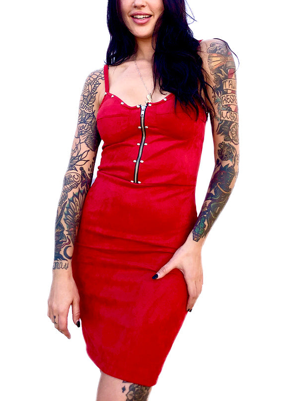 Women's Suede Studded Bra Dress by Switchblade Stiletto