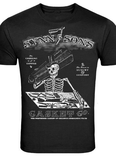 "Mens ""Synn & Sons Casket Company"" Tee by Se7en Deadly (Black) - www.inkedshop.com"