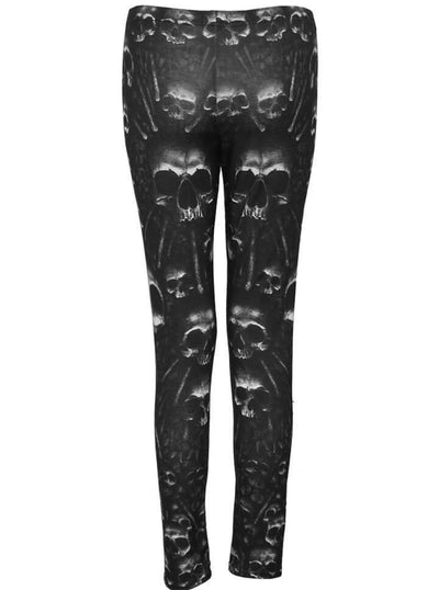 "Women's ""Catacomb"" Allover Leggings by Spiral USA (Black) - www.inkedshop.com"