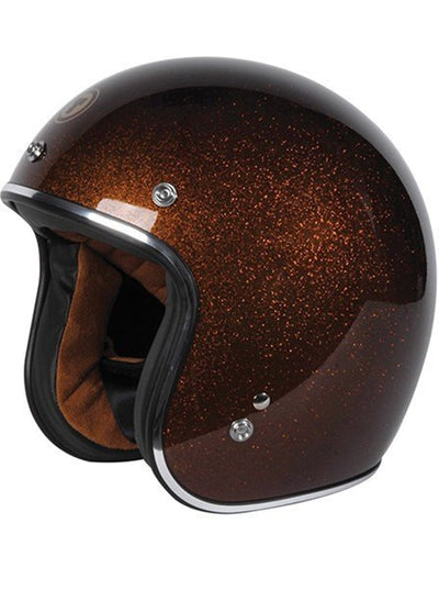 """Root Beer"" 3/4 Biker Helmet by Torc Racing (Brown) - www.inkedshop.com"