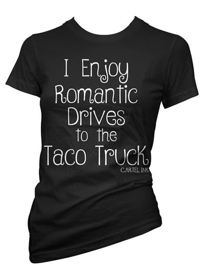 "Women's ""Romantic Drives"" Tee by Cartel Ink (Black)"