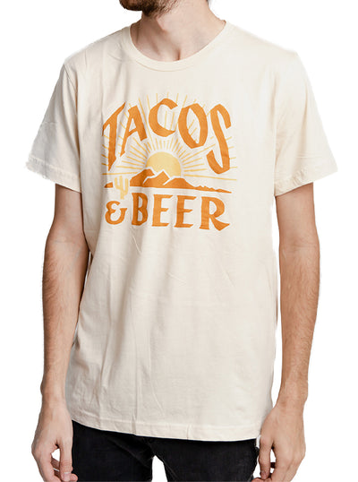Unisex Tacos & Beer Tee by Pyknic
