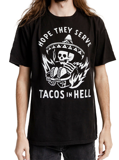 Men's Hope They Serve Tacos In Hell Tee by Pyknic