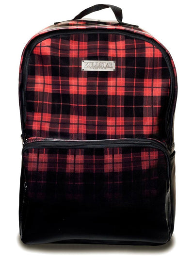 """Tartan"" Backpack by Killstar (Red/Black)"